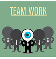 The blue eye leadership with teamwork vector image vector image