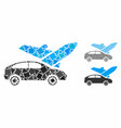transport composition icon raggy items vector image vector image