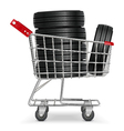 Trolley with Tires vector image vector image