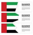 united arab emirates flag banners collection vector image