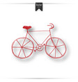 vintage road bicycle hand drawn vector image