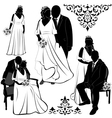 Wedding Pairs vector image vector image