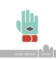 work glove icon vector image
