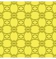 Yellow Decorative Retro Seamless Pattern vector image