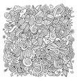 easter sketch background vector image