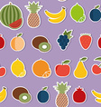 Fruit seamless pattern The image of fruits and vector image