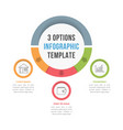 3 options infographic template vector image vector image