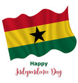 6 march ghana independence day background vector image