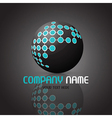 abstract sphere logo 1510 vector image vector image