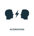 altercation icon monochrome style design from vector image