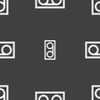audio cassette icon sign Seamless pattern on a vector image vector image