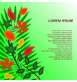 Background Card with different leaves to the left vector image vector image