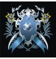 blue blazon vector image vector image