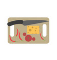board chopping cutting food kitchen cooking vector image vector image