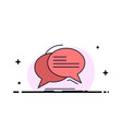bubble chat communication speech talk flat color vector image