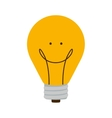 bulb light with happy face and filament vector image vector image