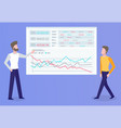 business plan and strategy planning businessmen vector image