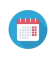 Calendar isolated icon vector image vector image