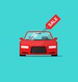 car or auto sale flat cartoon vector image vector image