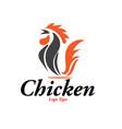 chicken logo designs vector image