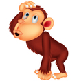 Chimpanzee cartoon thinking vector image vector image