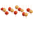 chinese new year decorative paper lanterns vector image vector image