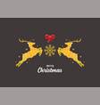 christmas reindeers greeting card vector image vector image