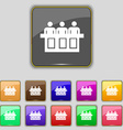 Conference icon sign Set with eleven colored vector image