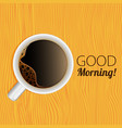 cup of coffee good morning vector image