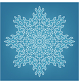 decorative Christmas snowflake vector image vector image