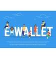 E-wallet concept vector image vector image