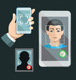 face recognition system vector image vector image