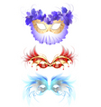 feather mask vector image