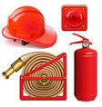 firefighter accessories vector image