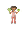 flat female doctor in medical clothing vector image vector image
