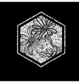 floral logo 03 grunge vector image vector image