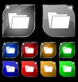 Folder icon sign Set of ten colorful buttons with vector image
