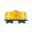 freight traffic transportation of oil in wagon vector image