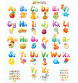 Funny Alphabet with pictures for children vector image vector image