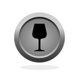 glass of wine icon vector image vector image