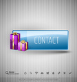 Glossy button with gifts Winter christmas special vector image