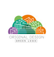 green logo original design logo template colorful vector image vector image