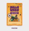 halloween cartoon party poster template vector image
