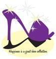 High Heel Happiness vector image vector image
