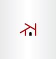 house icon element design symbol vector image vector image