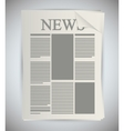 Isolated newspaper article design vector image vector image