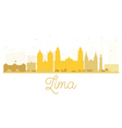 Lima City skyline golden silhouette vector image vector image