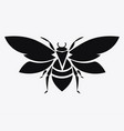 logo bee black and white bee icon vector image