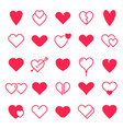 love hearts icon abstract red loving heart vector image vector image