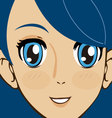 manga face vector image vector image